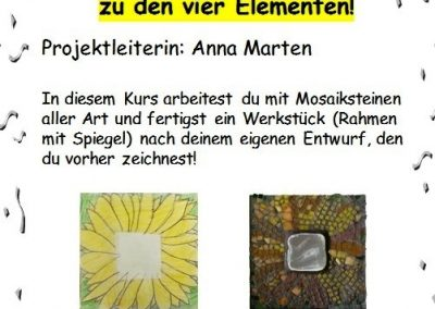 19 Mosaik-Workshop zu den 4 Elementen