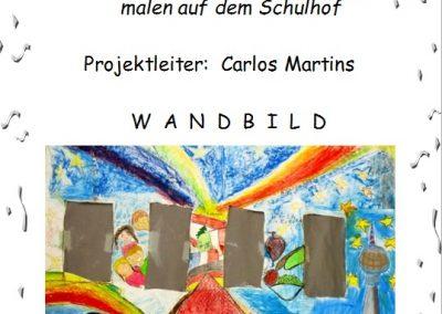 """27 Wandbild """"Regenbogen für Europa"""" malen auf dem Schulhof"""