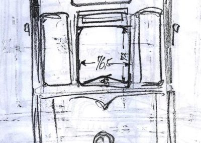 Straßenbahn Zeichnung vorn